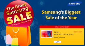 The Great Samsung Sale still on going until March 23, get the Galaxy Note Pro 12.2 at just Php 36,990