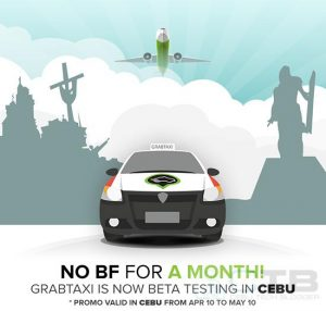 GrabTaxi goes on Beta Testing in Cebu! Get Zero Booking Fee until May 10!