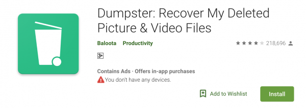 Dumpster Android Data Recovery