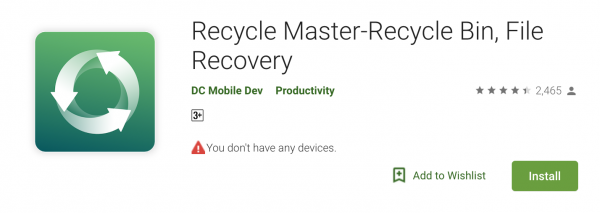 Recycle Master Recycle Bin Android Data Recovery