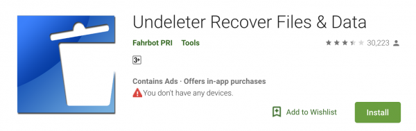 Undeleter Android Data Recovery