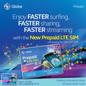 Globe LTE Prepaid Sim now Available!
