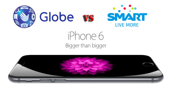 Globe vs Smart iPhone 6, iPhone 6 Plus