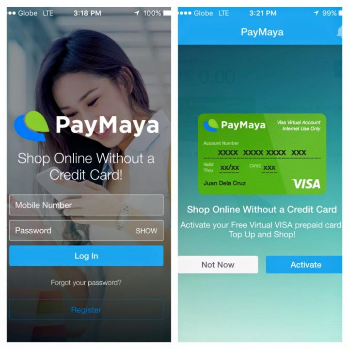 Shop Online without Credit Card with PayMaya