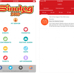 Sinulog 2019 Mobile App for Event Guides, News, Tickets, and More…