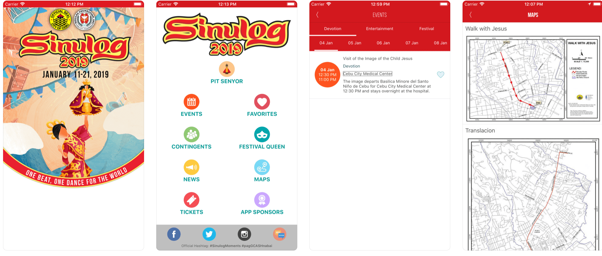 Sinulog 2019 Mobile App